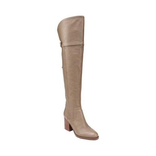 b7401de4cdf Shop Women s Franco Sarto Ollie Wide Calf Over The Knee Boot Taupe Leather  - Free Shipping Today - Overstock - 18853322