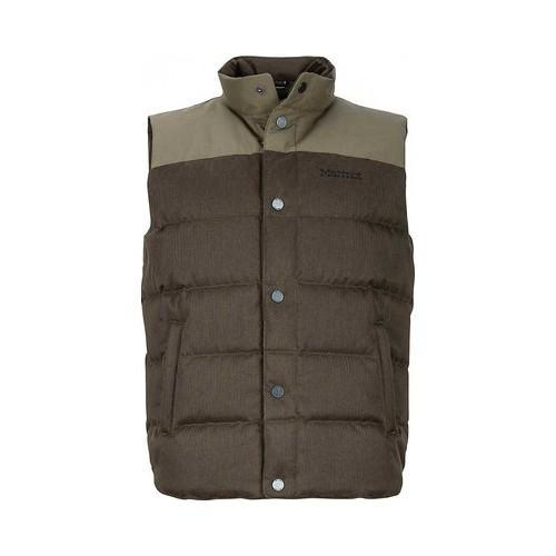 Men's Marmot Fordham Down Vest Deep Olive (Green) (US Men...