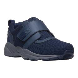 Men's Propet Stability X Hook and Loop Sneaker Navy Mesh