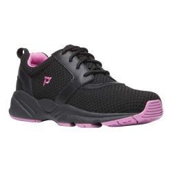 Women's Propet Stability X Walking Sneaker Black/Berry Mesh