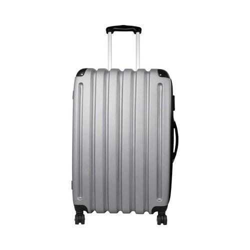 Preferred Nation P9128 27in Expandable Hardside Luggage Silver Grey