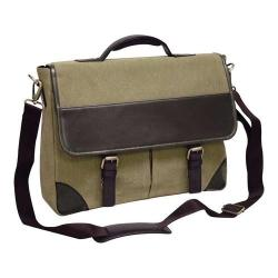 Preferred Nation P6232 Livingston Leather Briefcase Olive Brown
