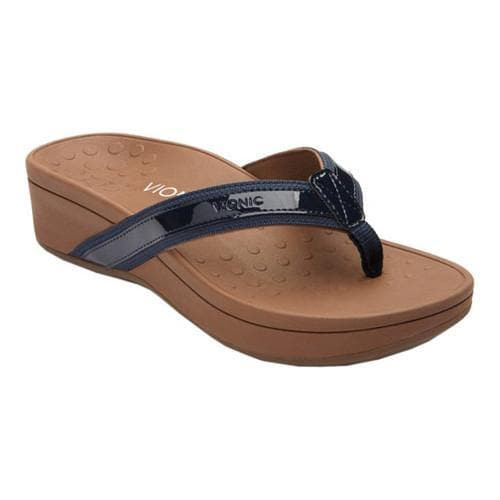 b6735b2ad472 Shop Women s Vionic with Orthaheel Technology High Tide Toe Post Sandal  Navy - Free Shipping On Orders Over  45 - Overstock - 18854030