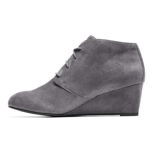 4102d546fcff ... Thumbnail Women  x27 s Vionic with Orthaheel Technology Becca Wedge  Bootie Grey