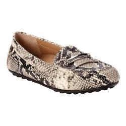 Women's Vionic with Orthaheel Technology Ashby Loafer Natural Snake Printed Leather