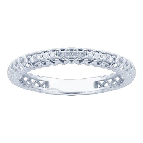 10KT White Gold and Diamond Ring