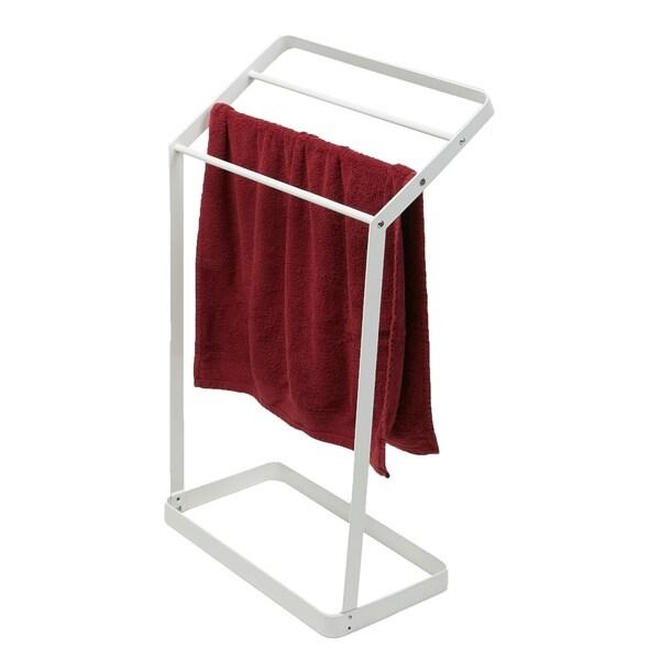 Mind Reader 3 Tier Bath Towel Bar Stand Alone Bathroom Rack Drying