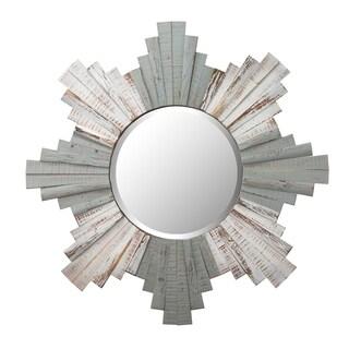 Link to Sunburst 32-inch Grey, Whitewash Beveled Mirror - Grey/Whitewash Similar Items in Mirrors