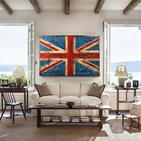 Retrograde UK Flag 3D Wall Art