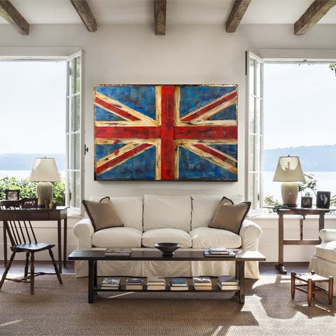Retrograde UK Flag 3D Wall Art