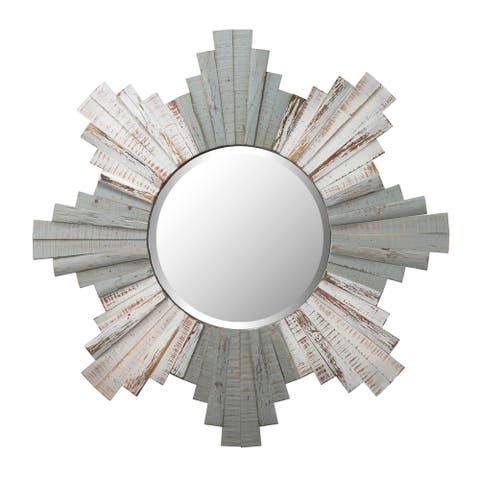 Sunburst 36-inch Grey, Whitewash Mirror - Grey/Whitewash