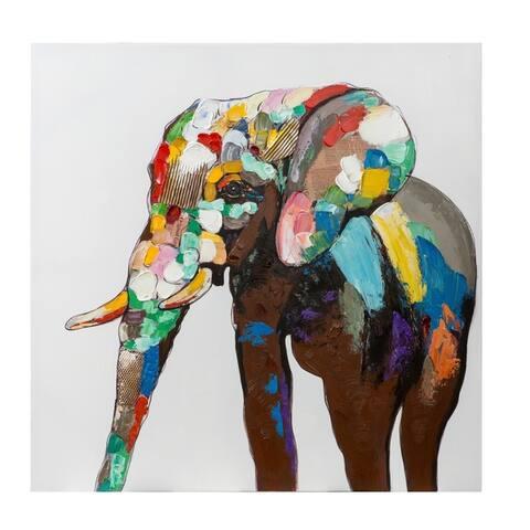 Vibrance Parker Elephant 3D Wall Art
