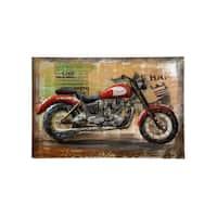 Retrograde Triumph Motorcycle 3D Wall Art