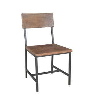 Christopher Knight Woodbridge Brown Acacia and Iron Dining Chairs (Set of 2)