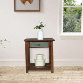 Avenue Greene Leelan Espresso End Table