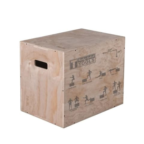 Body Solid Tools BSTWPBOX 3 in 1 Wooden Plyo Box