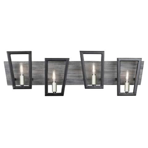Varaluz Zag 4-light Black, Silverado Bath/ Vanity