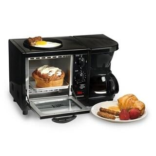 Elite EBK-200B 3-in-1 Multifunction Breakfast Center, Black