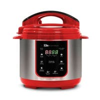 Elite Platinum EPC-414R 4-Qt. 9-Function Digital Pressure Cooker, Red