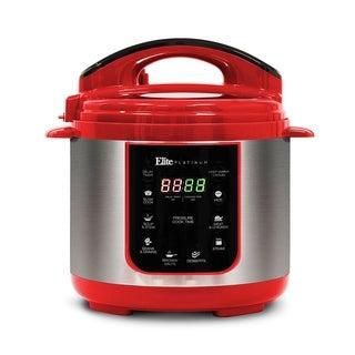 Elite Platinum EPC-414R 4-Qt. 9-Function Digital Pressure Cooker, Red