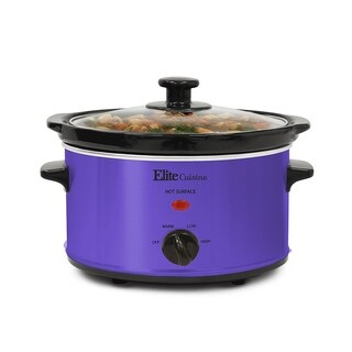Elite MST-275XP 2-Quart Oval Slow Cooker, Purple