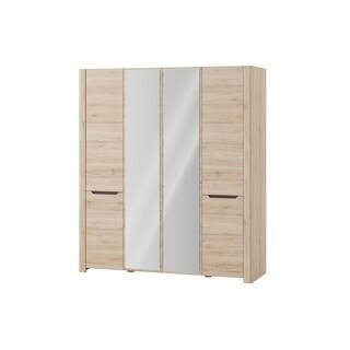 DESJO 4 Doors Wardrobe With Mirror