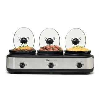 Elite EWMST-325 7.5-Quart Triple Slow Cooker Buffet