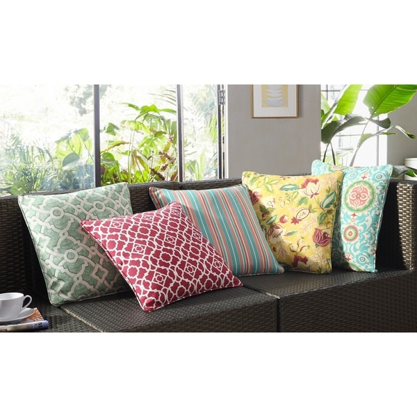 Waverly Olivia Outdoor Throw Cushion. Opens flyout.
