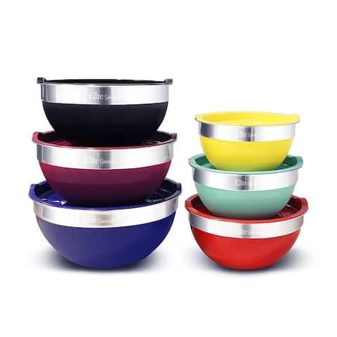 Elite EBS-0012 12-Piece Multicolor Mixing Bowl