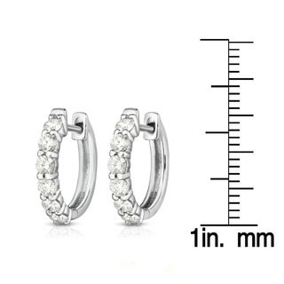 Noray Designs 14K Gold Diamond (0.75 Ct, G-H Color, SI2-I1 Clarity) Huggie Hoop Earrings