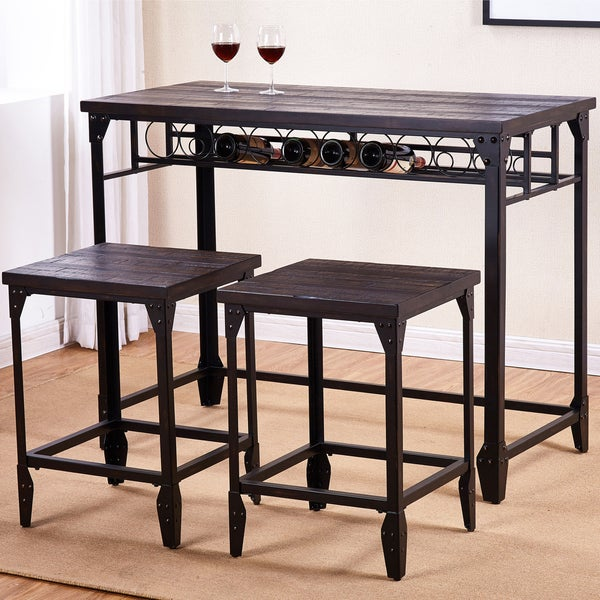 Simon 3-Piece Solid Basswood Counter Height Set by Greyson Living