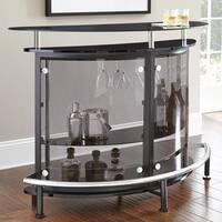 Amari Smokey Glass Bar Table by Greyson Living