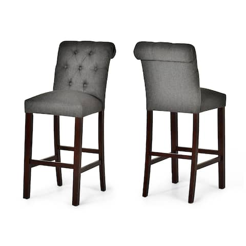 Barrett Gray Button Tufted Counter Chair by Greyson Living (Set of 2) - Counter Height