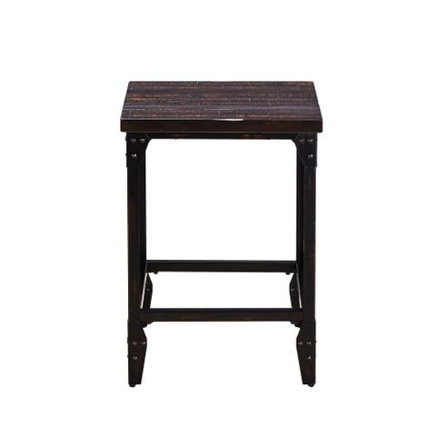 Simon Industrial 25-inch Backless Bar Stools by Greyson Living (Set of 2)