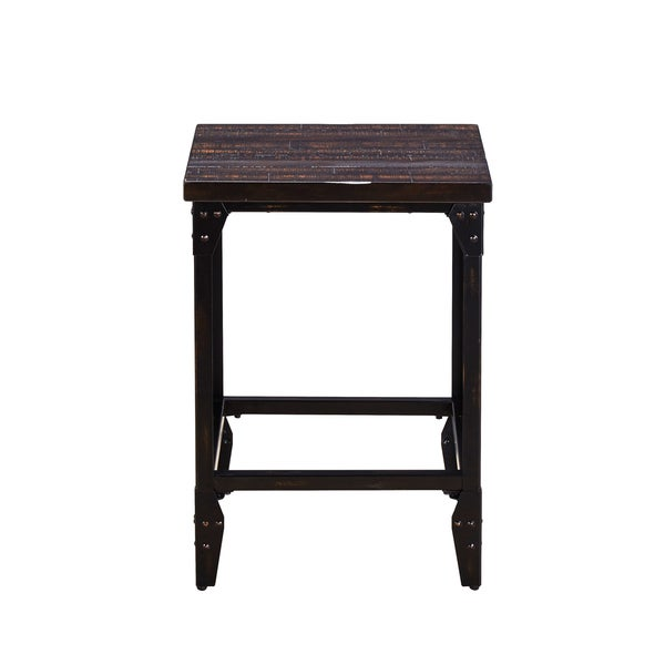 Simon Industrial 25-inch Backless Bar Stools by Greyson Living (Set of 2). Opens flyout.