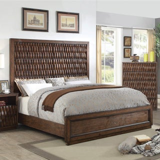 Furniture of America Artello I Wooden Carved Panel Bed