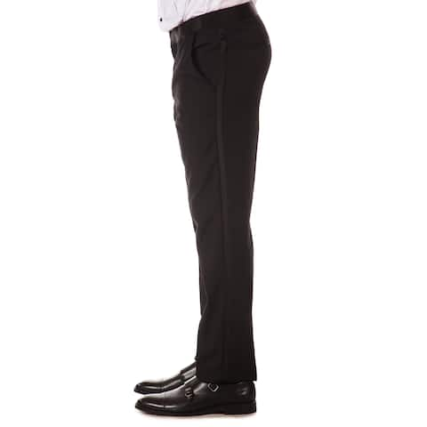 Ferrecci Mens Unhemmed Slim Fit Classic Tuxedo Dress Pants