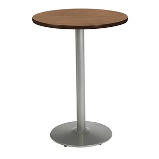 KFI Mode Round Multipurpose Table, River Round Silver Base, Bistro Height
