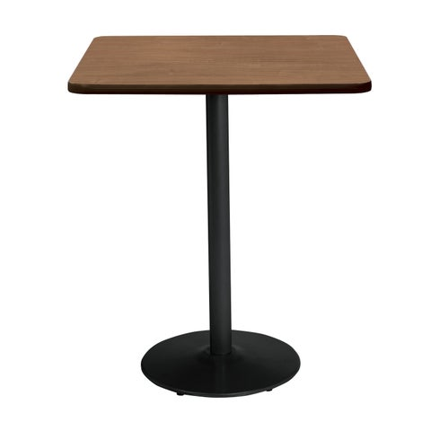 KFI Mode Square Top Multipurpose Table, Round Black Base, Bistro Height