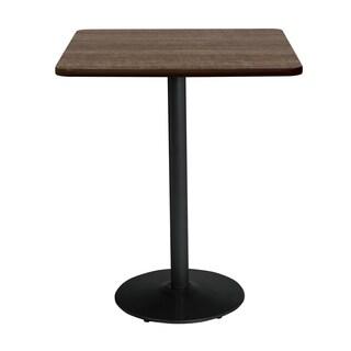 KFI Mode Square Top Multipurpose Table, Round Black Base, Bistro Height