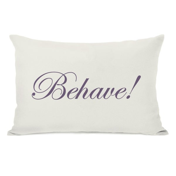 Behave or Not Reversible - Ivory Grape Blue 14x20 Pillow by OBC