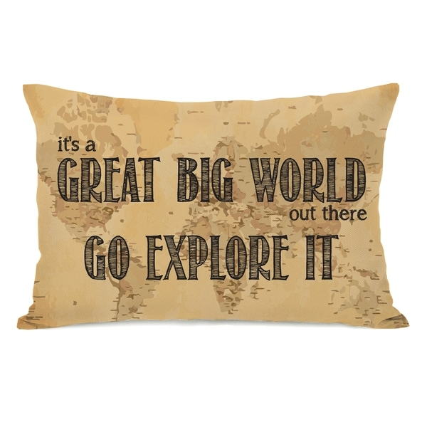 Great Big World Map 14x20 Pillow by OBC