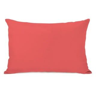 Solid - Dark Coral 14x20 Pillow by OBC