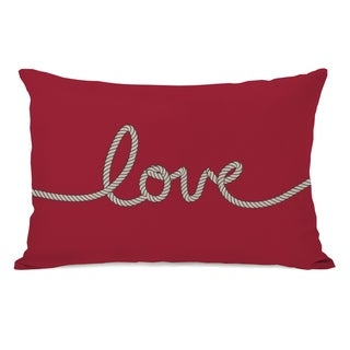 Love Rope - Red Tan 14x20 Pillow by OBC