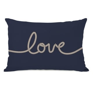 Love Rope - Navy Tan 14x20 Pillow by OBC