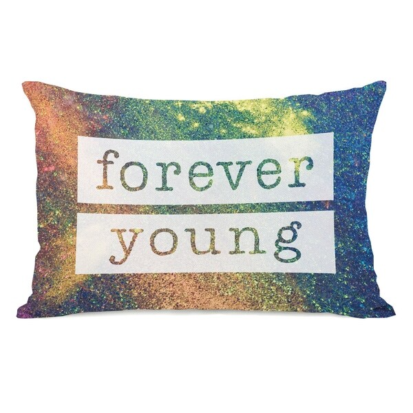 Galaxy Forever Young - Brights Multi 14x20 Pillow by OBC
