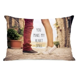 Heart Smile Feet  - Multi 14x20 Pillow by OBC