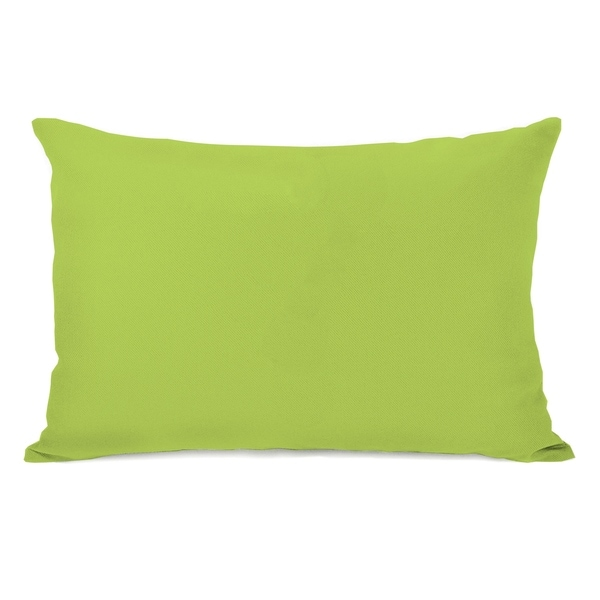 Solid - Lime 14x20 Pillow by OBC