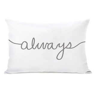 Always Mix & Match - White Gray 14x20 Pillow by OBC