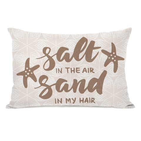 Salt Air Sand Hair - Tan 14x20 Pillow by OBC